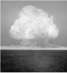 first nuclear weapon test